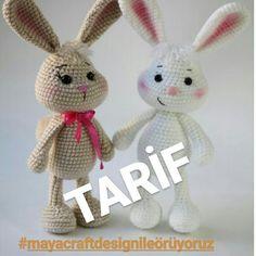 No automatic alt text available. Crochet Bunny Pattern, Crochet Birds, Crochet Patterns Amigurumi, Amigurumi Doll, Crochet Animals, Doll Tutorial, Stuffed Toys Patterns, Diy Toys, Handmade Toys