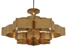 Currey & Co. Grand Lotus Chandelier 9494