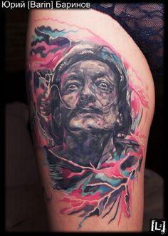 Дали #tattoo #tattoo_artist #artist #Barin #color #expression #style #master #russia #тату #татуировка #татуировщик #Юрий_Баринов #экспрессия #цвет #стиль #спб #питер #мастер