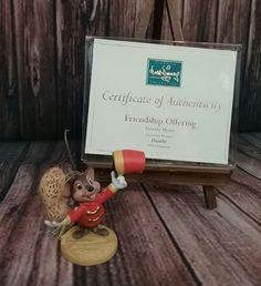 "Walt Disney Classics Collection ""Friendship Offering"" Timothy Mouse Ornament COA #Disney"