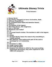 Kid Trivia Questions Disney   Kids