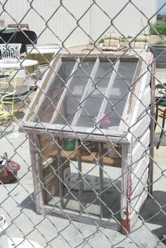 Up cycle site- my uncles used to have these. They called them hotbeds because you placed a small gas heater under them so when the weather was cold the seedlings stayed warm.