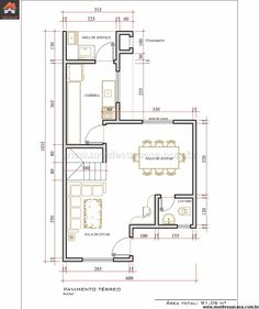 Projetos-de-casas-pores-009 | economic housing | Pinterest on