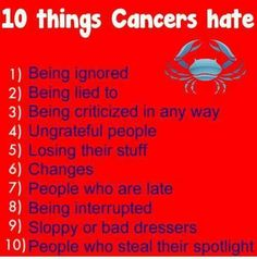 Daily Horoscope Cancer  All except the spotlight Don't need it I already know my worth! S.