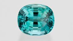 This 9.91-carat Afghan tourmaline hovers on the boundary between green and blue hues. Its high clarity and medium tone give it a pleasing appearance.