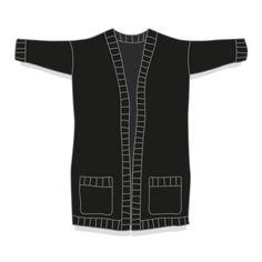 Léon, un grand gilet oversize DIY knit Crochet Woman, Knit Crochet, Crochet Tops, Patron Crochet, Clothing Patterns, Knit Cardigan, Knitwear, Eminem, Clothes For Women