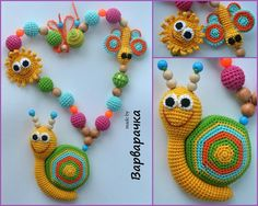 Teething necklace / Breastfeeding Necklace for Mom /Nursing necklace with amigurumi/FREEshiping Nursing Necklace, Teething Necklace, Crochet Baby Toys, Crochet Animals, Bracelet Crochet, Crochet Earrings, Love Crochet, Crochet For Kids, Crochet Capas