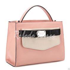 Sac à Main Femme-Couleur contraste rose sacs à main à double usage