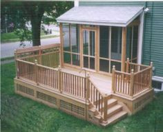 This is pretty much the deck I want on my camper (without the screen porch part) I would like some benches on it, though