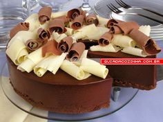 Receita de Torta de mousse de chocolate