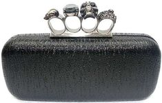 Zenness Stunning Womens Evening Clutch Handbag Skull Ring Bag Black ** You can get more details by clicking on the image.