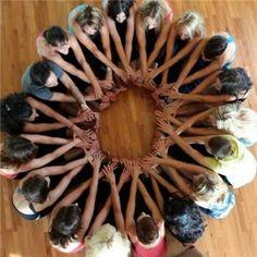 Resultado de imagen de group kids yoga class