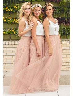 V-neck Bridesmaid Dress,Dusty Pink Tulle Simple Custom Long Bridesmaid Dress, Wedding Party sold by Dreamgown. Shop more products from Dreamgown on Storenvy, the home of independent small businesses all over the world. Wedding Attire, Boho Wedding, Wedding Gowns, Dream Wedding, Bridal Gowns, Will You Be My Bridesmaid Gifts, Blush Gown, Bridesmaids And Groomsmen, Beach Wedding Bridesmaids