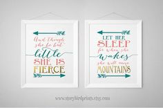 Gorgeous nursery colors! Teal, aqua, coral and faux gold foil. Two very popular sayings for a little girls bedroom on a white background. And