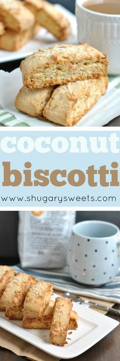 Sweet Coconut Biscotti is perfect with your breakfast this morning! Dunk it in your morning coffee or tea, and I say you have a well rounded breakfast! Ha!