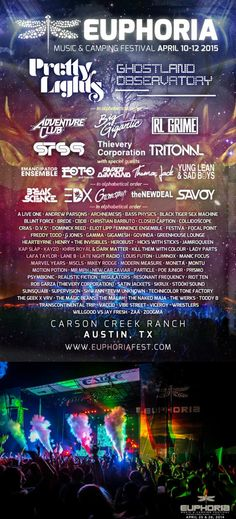The Euphoria Festival in Austin, Texas makes or top 50 festivals list of 2015. See the full list at http://metrowize.com/music-festivals-guide