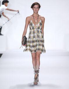 Rebecca Minkoff Look 21: Casablanca Print Chiffon Violeta Dress