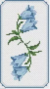 Floral Bookmark cross stitch pattern