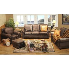 Rodeo Leather Living Room Collection