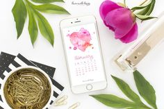 February 2017 Calendar   Tech Pretties. One of my most popular posts each month are these free pretty printables and calendars for your tech!
