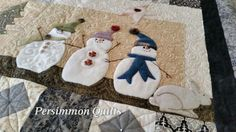 Merry Merry Snowmen quilt made by Steve A Longarmed by Le Ann Weaver of Persimmon quilts.nna