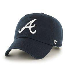 MLB Atlanta Braves '47 Brand Navy Basic Logo Clean Up Home Adjustable Hat