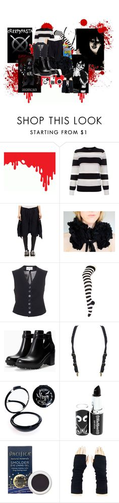 """""""Laughing Jack"""" by kittykiller0122 ❤ liked on Polyvore featuring Social Republic, Paul Smith, R13, Hard Candy, Ann Demeulemeester, Zara, Manic Panic NYC and Pacifica"""