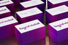 Liquid violet, couleur sur tranche - dégradé - Gradient edge color