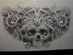 sketch for tattoo by Xenija88 on deviantART skull tribal design Tattoo Flash Art ~A.R.