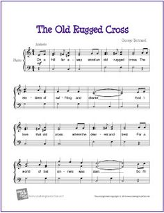 The Old Rugged Cross | Free Sheet Music for Piano (Scheduled via TrafficWonker.com)