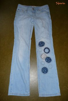 Hosen mit Flicken flicken Teil 3 | Sewia.de Trends, Diy Art, Upcycle, Skinny Jeans, Sewing, Pants, Recycling, Projects, Fashion
