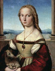 Portrait of a Lady with a Unicorn by Raphael (Raffaello Sanzio of Urbino)
