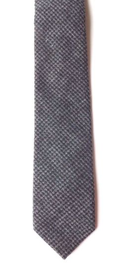 Taylor and Wright Skinny Neck Tie Grey Fine Check Wool Feel Slim Style FREE P&P #TaylorandWright #Tie