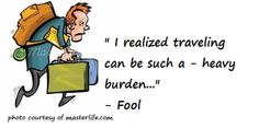 Travel Trivias: Extra Luggage – Extra Burden