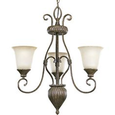 Progress Lighting Maison Orleans 3-Light Fieldstone Chandelier
