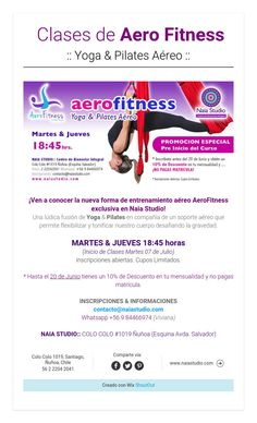 Clases de Aero Fitness:: Yoga