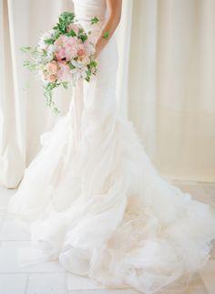 Ruffles: http://www.stylemepretty.com/2014/10/14/soft-romantic-summer-winery-wedding/ | Photography: KT Merry Photography - http://ktmerry.com/