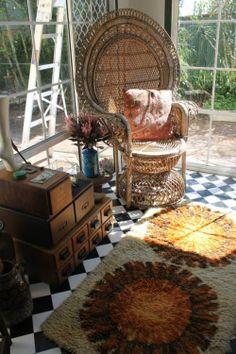 home decor hippie inspiration boho bohemian Interior Design Living Room dream house decor Home Inspiration boho decor hippie house boho house peacock chair interiors decor