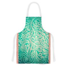 KESS InHouse Alveron 'Spring Paisley' Artistic Apron, 31 by 35.75', Multicolor *** Insider's special review you can't miss. Read more  : Small Appliances