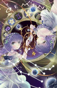 Gemini [Zodiacal Constellations] by Ayasal. on - - Gemini [Zodiacal Constellations] by Ayasal.deviantart… on Anime Chibi, Kawaii Anime, Manga Anime, Fanarts Anime, Manga Art, Anime Characters, Anime Art, Anime Love, All Anime