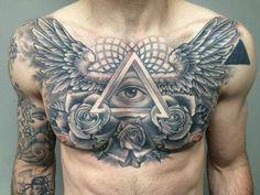 Tattoo Designs Awesome Chest Tattoo Ideas For Men Beautiful Hot Celebrity Tattoos 40 Inspirational Creative Tattoo Ideas For Men and Women. Chest Piece Tattoo Mens, Full Chest Tattoos, Chest Tattoos For Women, Cool Tattoos For Guys, Chest Tattoo Wings, Tattoos Masculinas, Body Art Tattoos, Sleeve Tattoos, Forearm Tattoos