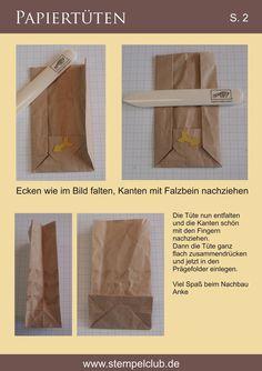 Anleitung für die Papiertüten (Lunchbags) ~ Stempelclub Leipzig - mit Stampin' Up!®