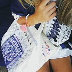 Pia's partner in blue💕#lovepia #piarossini #beachbag #embellished #glam #loveit…