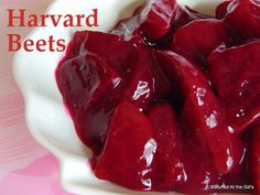 Harvard Beets are delicious cooked beets in a tangy sweet sauce. What a lovely and colourful, not to mention tasty, addition to . Jam Cookies, Raisin Cookies, Molasses Cookies, Beet Recipes, Cooking Recipes, Veggie Recipes, Veggie Dishes, Crockpot Recipes, Dinner Recipes