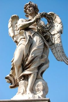 Bernini, Stations of the Cross Angels, Ponte Sant'Angelo, Rome Italy Bernini Sculpture, Angel Sculpture, Sculpture Art, Rodin, Angel's Feather, Cemetery Angels, Statue Tattoo, Italian Sculptors, I Believe In Angels