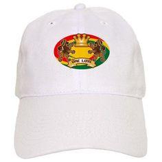 Jah King 1 Luv Rasta Lion Baseball Baseball Cap #rastawear #jahkingdesigns