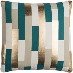 Rizzy Home Teal Geometric Stripe Throw Pillow (33 CAD) ❤ liked on Polyvore featuring home, home decor, throw pillows, rizzy home, teal home decor, striped accent pillows, cotton throw pillows and teal accent pillows