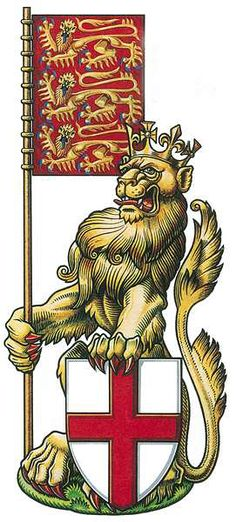 The crowned lion of England. Professionally re-touched illustration. England Tattoo, Medieval, Lion Head Tattoos, Badges, Plantagenet, History Images, Illuminated Manuscript, Illuminated Letters, Knights Templar