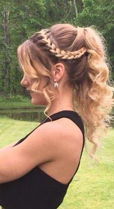 Hairstyles suelto lange Haarmodelle - Prom or homecoming hair updo braid curls long hair ombre lange Haarmodelle - Abschlussball oder Heimkehr Haar Hochsteckfrisur Zopf locken langes Haar ombre # Prom Hairstyles For Long Hair, Curls For Long Hair, Prom Hair Updo, Dance Hairstyles, Box Braids Hairstyles, Curls Hair, Cute Hairstyles For Homecoming, Hairstyle Ideas, Prom Braid