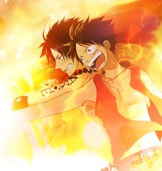 One Piece - Luffy and Ace